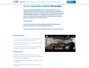 Website der OMT Konferenz